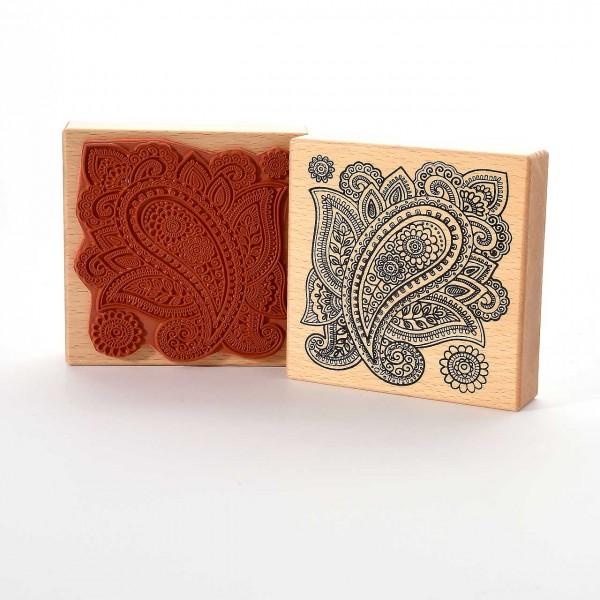Motivstempel Titel: Henna Paisley Muster