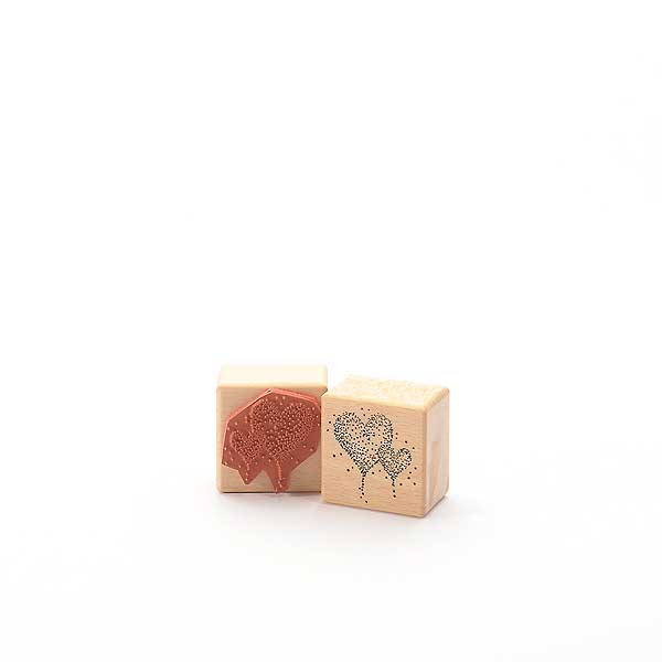 Motivstempel Titel: Zwei Herzen