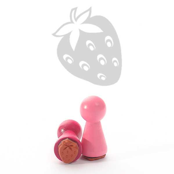 Motivstempel Titel: Ministempel Erdbeere