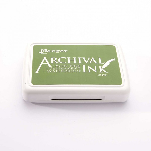 Ranger Archival Ink Stempelkissen - Olive · Olivgrün