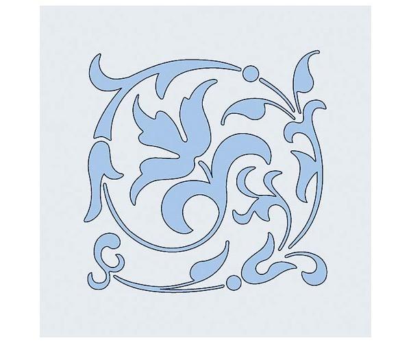 Judi-Kins Kite-Schablonen - Floraler Schnörkel
