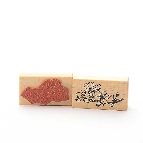 Motivstempel Titel: Zweig mit Kirschblüten