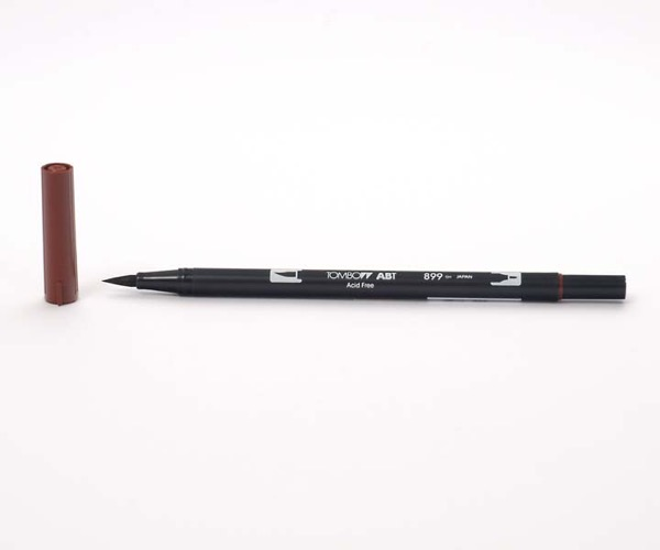 Tombow Dual Brush Pen - Redwood - Holzrot