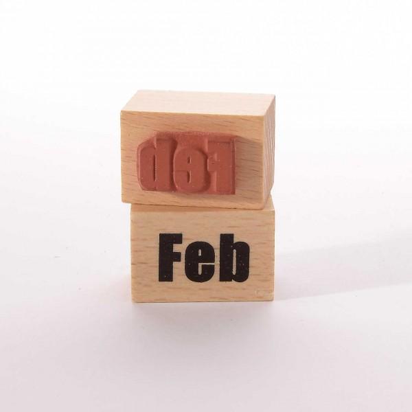 Motivstempel Titel: Monate - Feb