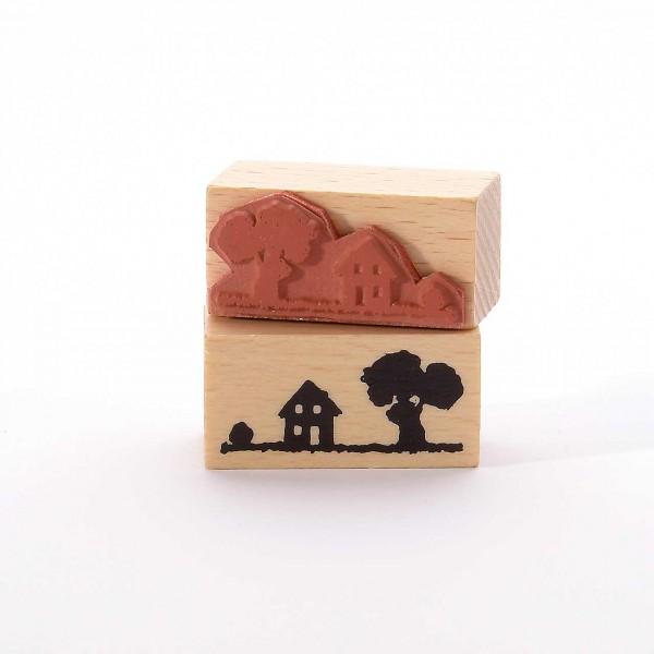 Motivstempel Titel: Haus und Baum