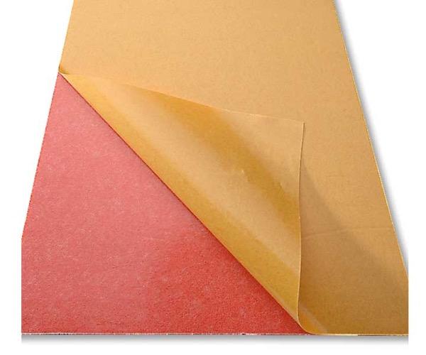 Roter 2mm Zellkautschuk Din A4 Platte