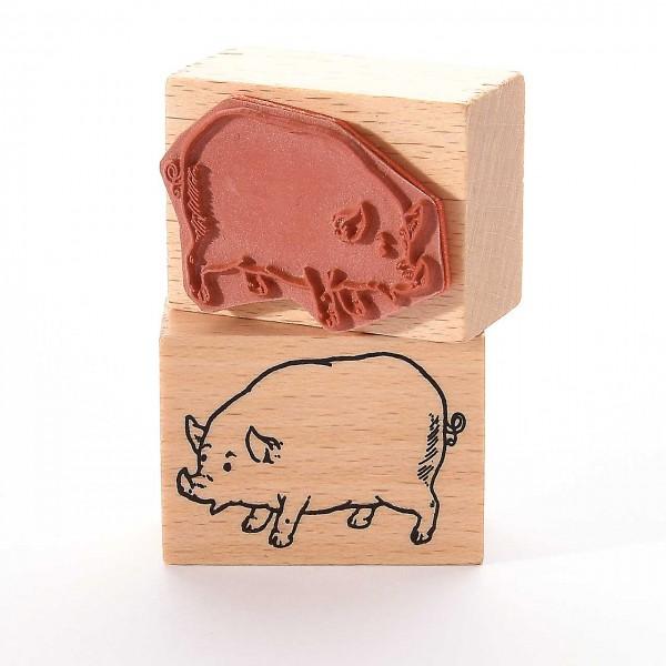 Motivstempel Titel: Schwein