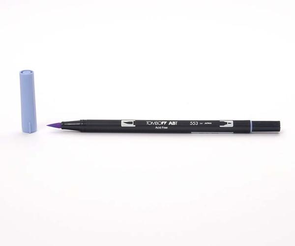 Tombow Dual Brush Pen - Mist Purple - Graublau