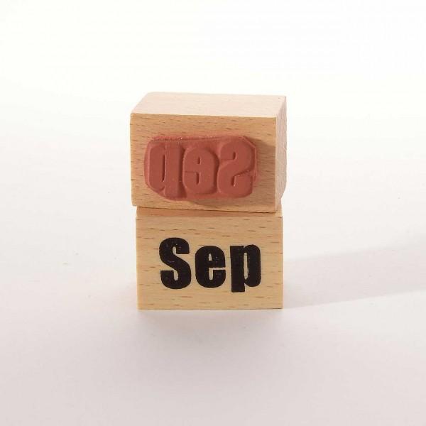 Motivstempel Titel: Monate - Sep