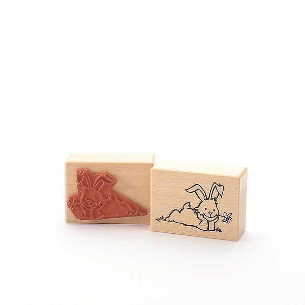 Motivstempel Titel: Hase mit Blümchen