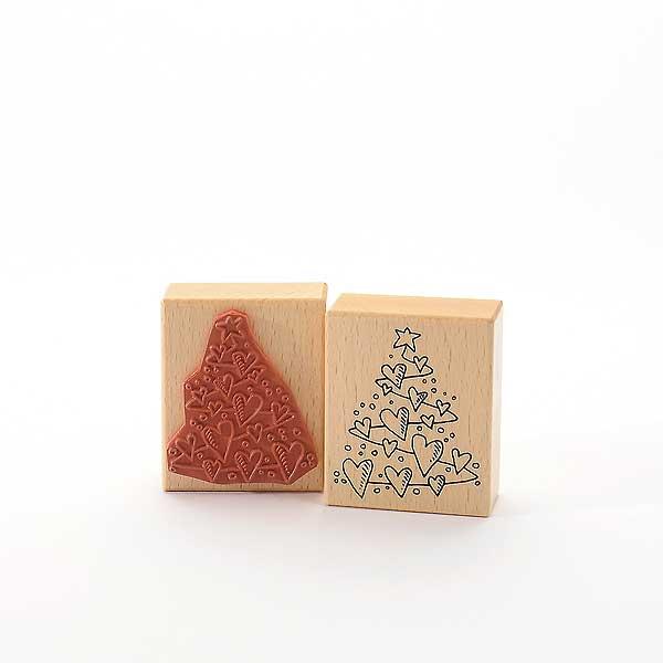 Motivstempel Titel: Herzlicher Weihnachtsbaum