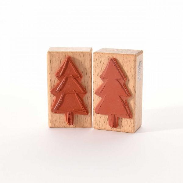 Motivstempel Titel: Weihnachtsbaum - Fläche und Kontur
