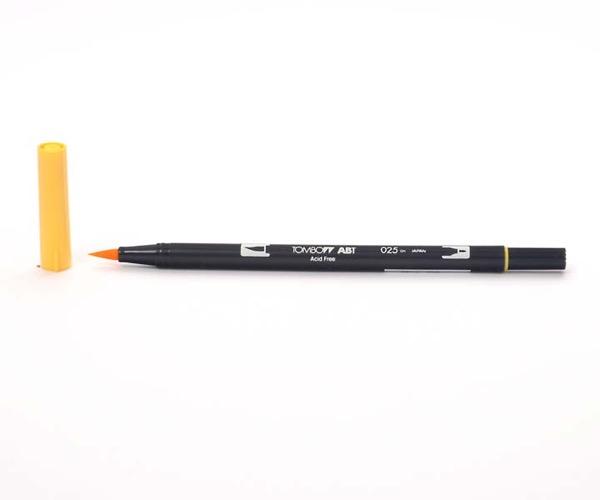 Tombow Dual Brush Pen - Light Orange - Hell Orange