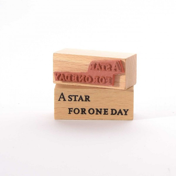 Motivstempel Titel: A star for one day