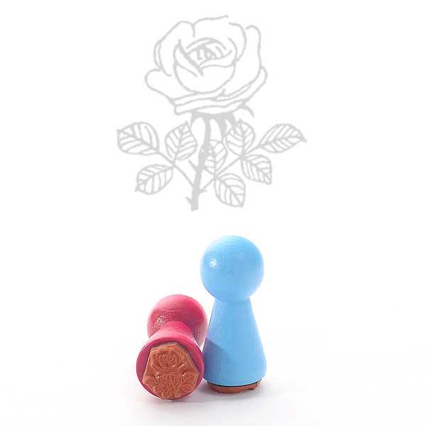 Motivstempel Titel: Ministempel Rose