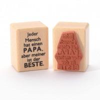 Motivstempel Titel: Jeder Mensch hat einen Papa, aber meiner ist der Beste