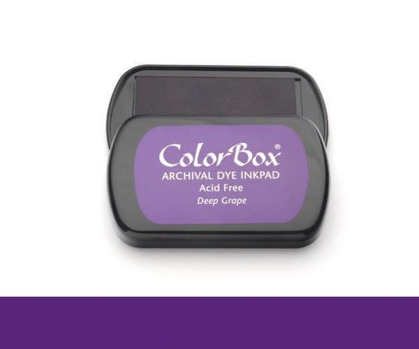 CB Archival Dye Ink Stempelkissen · Deep Grape - Weintrauben (Violett)