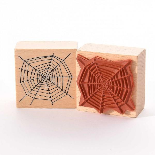 Motivstempel Titel: Spinnennetz