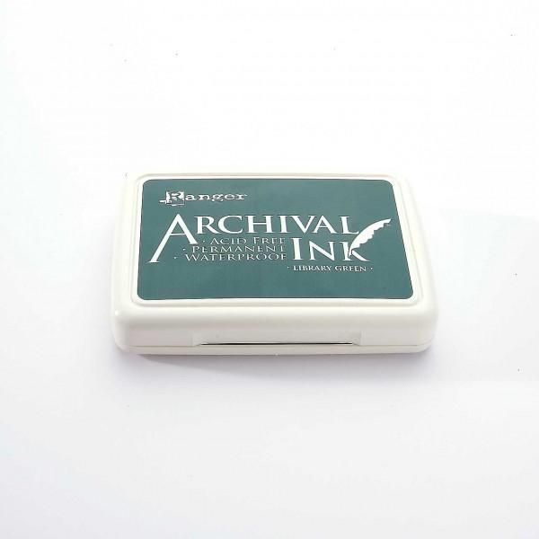 Ranger Archival Ink Stempelkissen - Library Green · Dunkelgrün