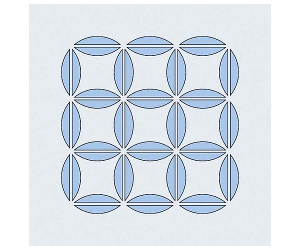 Judi-Kins Kite-Schablonen - Quadratur des Kreises