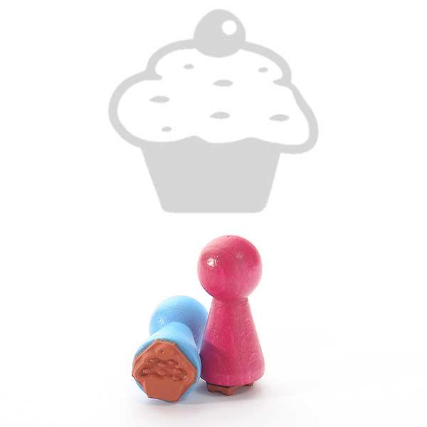 Motivstempel Titel: Ministempel Cupcake