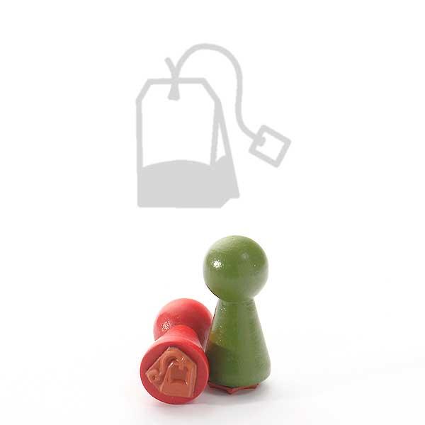 Motivstempel Titel: Ministempel Teatime Teebeutel von Judi-kins