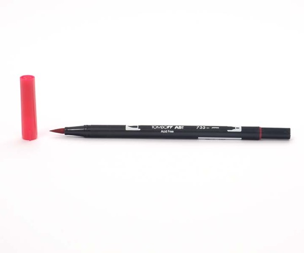 Tombow Dual Brush Pen - Rubine Red - Rubinrot