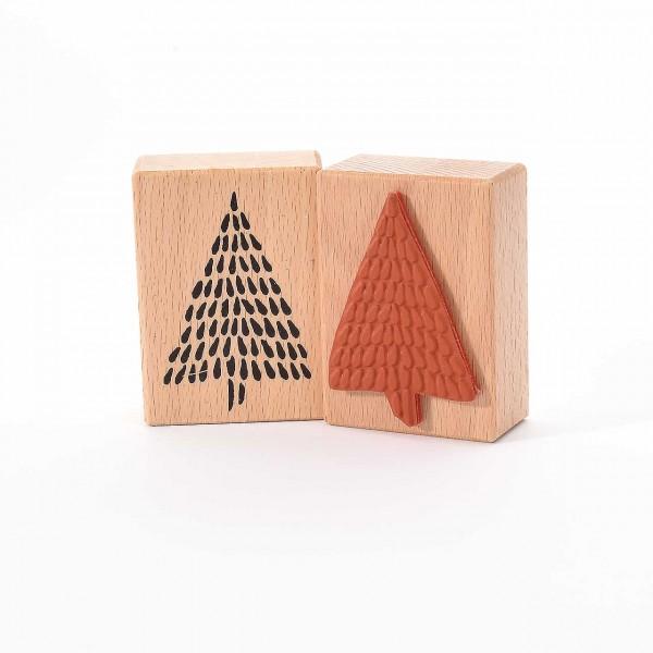 Motivstempel Titel: Weihnachtsbaum mit Strichen
