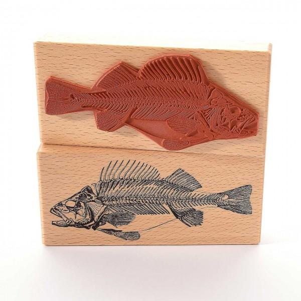 Motivstempel Titel: Fisch Fossil