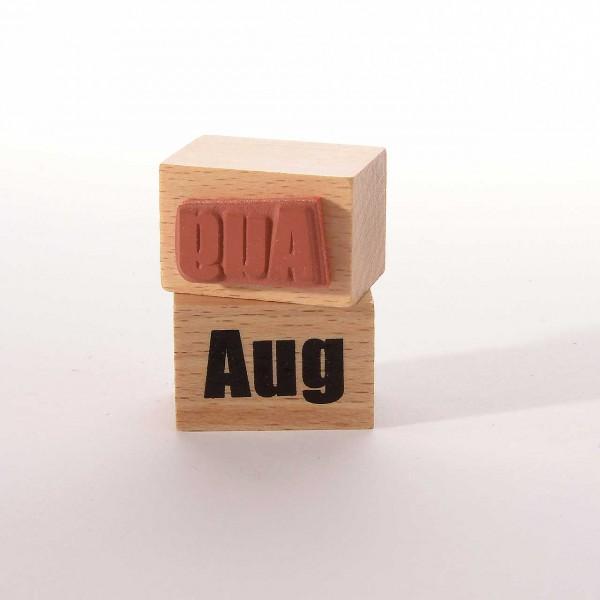 Motivstempel Titel: Monate - Aug
