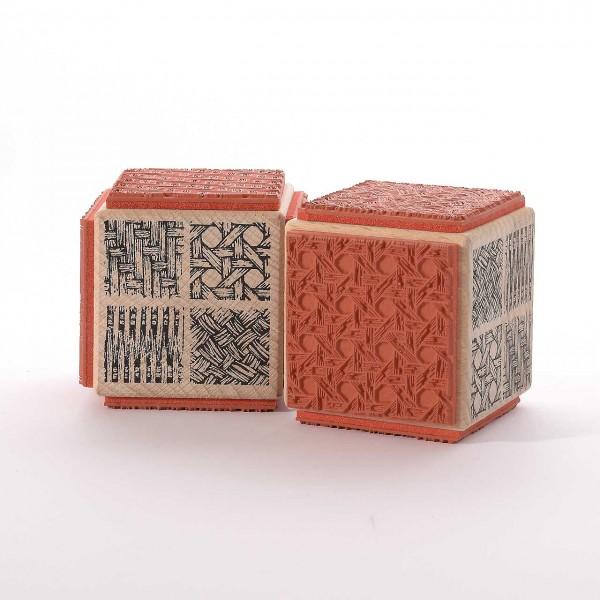 Motivstempel Titel: Judi-Kins vier textile Strukturen