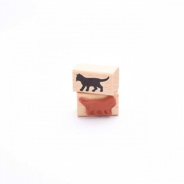 Motivstempel Titel: Kleine schwarze Katze