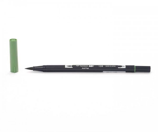 Tombow Dual Brush Pen - Dark Olive - Olivgrün dunkel