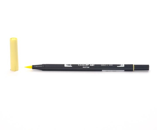 Tombow Dual Brush Pen - Pale Yellow - Blass Gelb