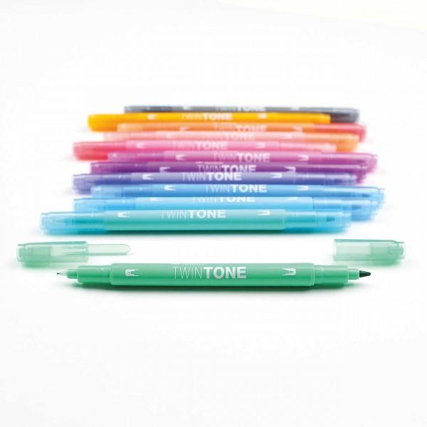 Tombow TwinTone · Pastel · Fasermaler mit zwei Spitzen