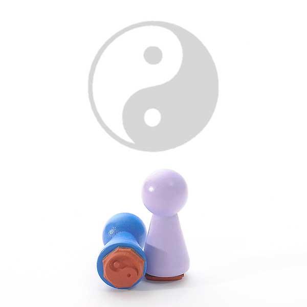 Motivstempel Titel: Ministempel Ying Yang