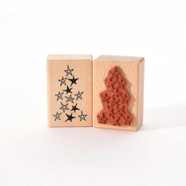 Motivstempel Titel: Viele Sterne für den Weihnachtsbaum