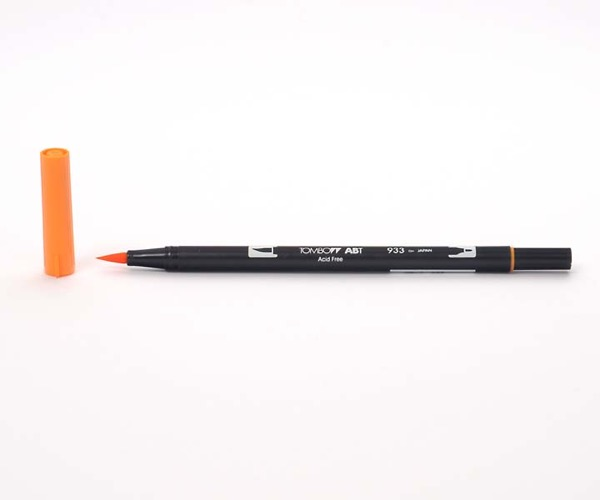 Tombow Dual Brush Pen - Orange - Orange