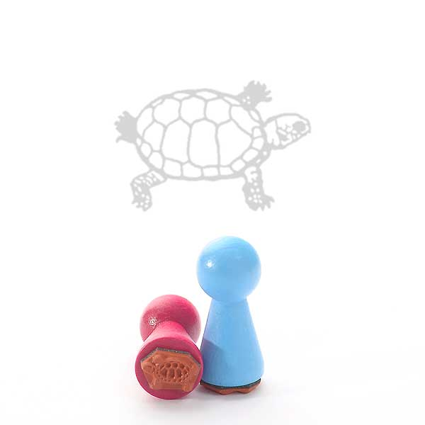 Motivstempel Titel: Ministempel Schildkröte