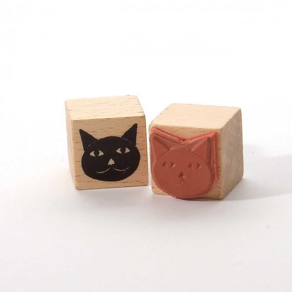 Motivstempel Titel: Schwarzes Katzengesicht