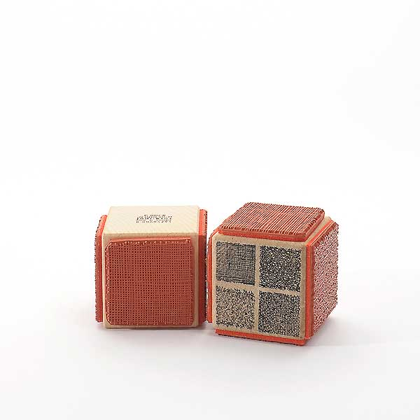 Motivstempel Titel: Judi-Kins textile Strukturen Hintergründe