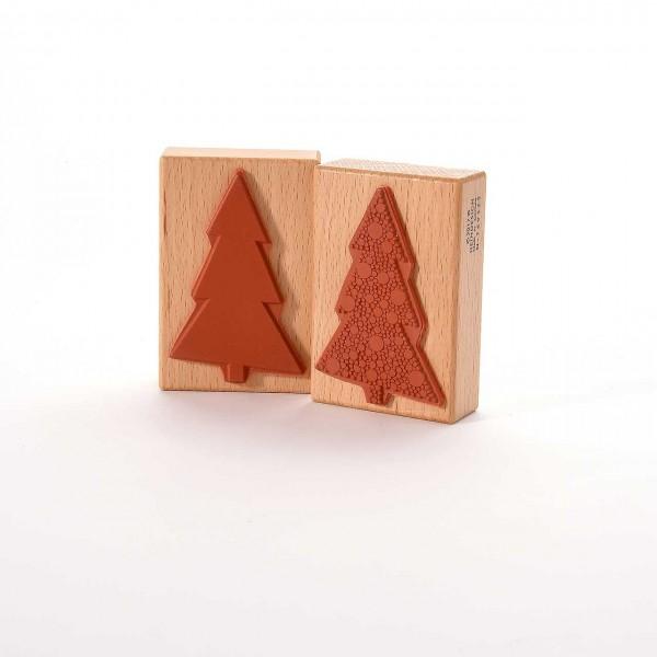 Motivstempel Titel: Weihnachtsbaum mit Punkten
