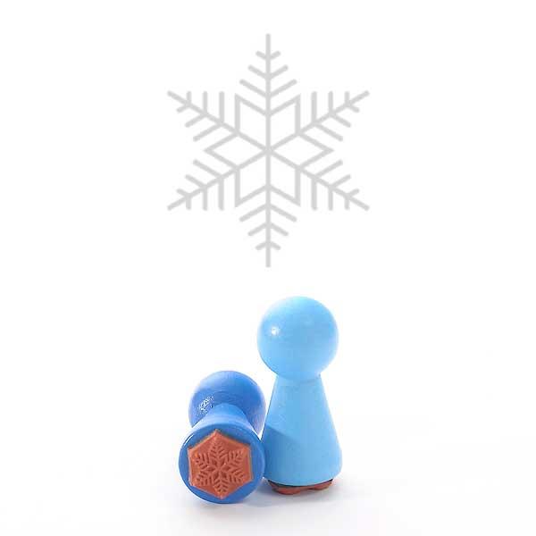 Motivstempel Titel: Ministempel Schneeflocke