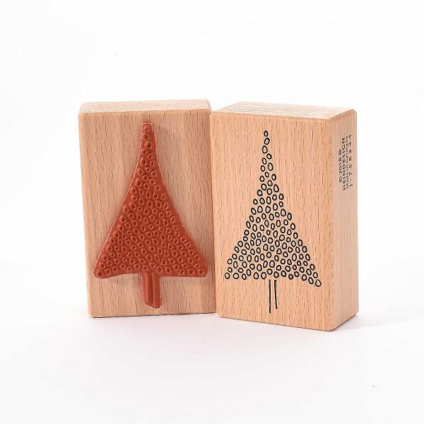 Motivstempel Titel: Weihnachtsbaum mit vielen Kreisen