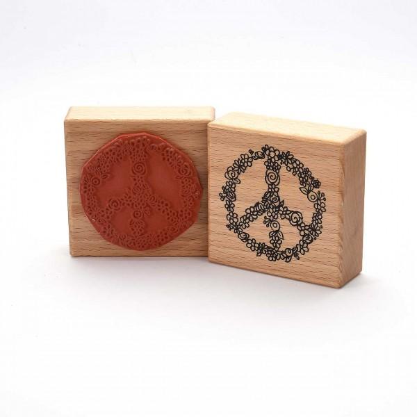 Motivstempel Titel: Blumiges Peace-Zeichen