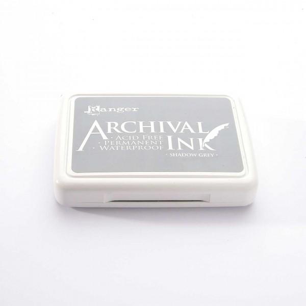 Ranger Archival Ink Stempelkissen - Shadow Grey · Grau