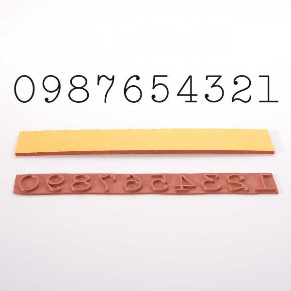 Set Stempelgummi: Alle Ziffern - 1, 2, 3, 4, 5, 6, 7, 8, 9, 0