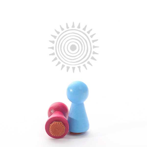 Motivstempel Titel: Ministempel Sonnensymbol von Judi-kins